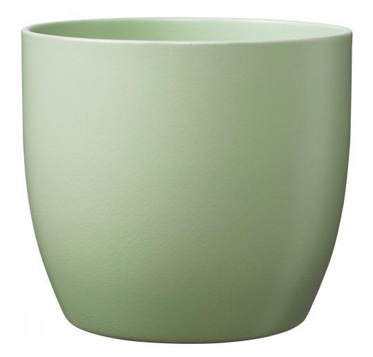 Basel Ceramic Orchid Pot Matte Lime Green (14cm)