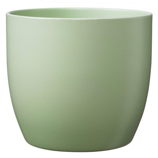 Basel Ceramic Orchid Pot Matte Lime Green (19cm)